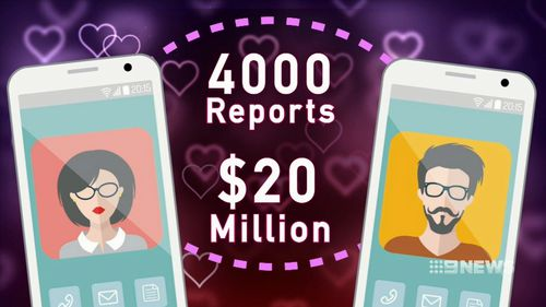 The ACCC received 4000 reports of love scams last year, with losses totalling $20 million.