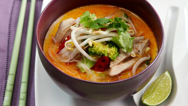 Spicy coconut chicken soup