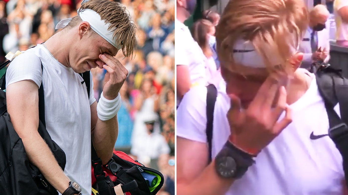 Denis Shapovalov was overcome with tears after his loss to Novak Djokovic.