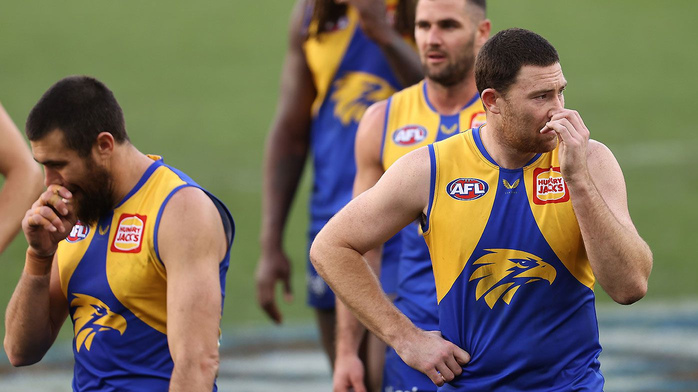 West Coast Eagles blasted after 'embarrassing' home loss against Western Bulldogs