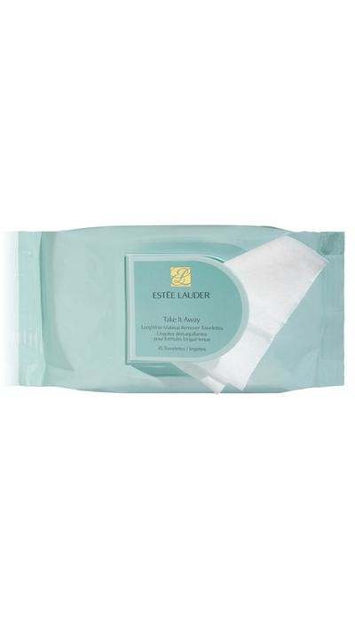 "<p><a href=""http://www.esteelauder.com.au/product/681/2910/Product-Catalog/Skincare/Take-It-Away/LongWear-Makeup-Remover-Towelettes"" target=""_blank"">Take It Away LongWear Makeup Remover Towelettes, $45, Estee Lauder</a></p>"