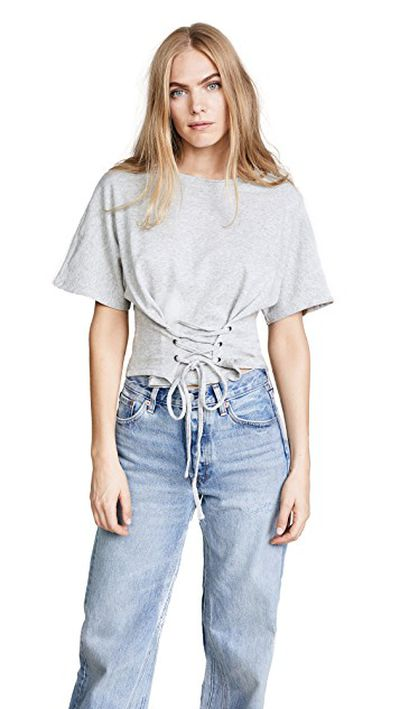 "<a href=""https://www.shopbop.com/corset-top-minkpink/vp/v=1/1509509970.htm?fm=search-viewall-shopbysize&os=false"" target=""_blank"">MinkPink Corset Tee in Grey Marle, $77.90</a><br /> <br /> <br /> <br /> <br /> <br /> <br /> <br /> <br /> <br /> <br /> A$77.90"