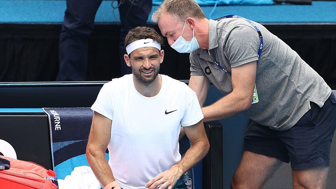 Grigor Dimitrov Australian Open comes to 'super unlucky' ending