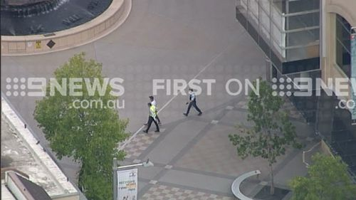 The Westfield shopping centre was evacuated. (9NEWS)