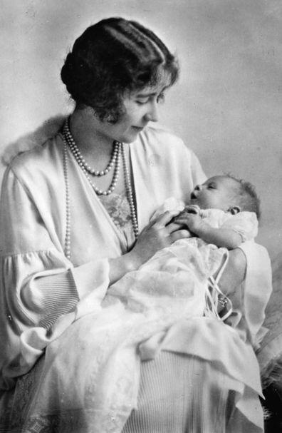 A photo of Queen II Elizabeth as a baby