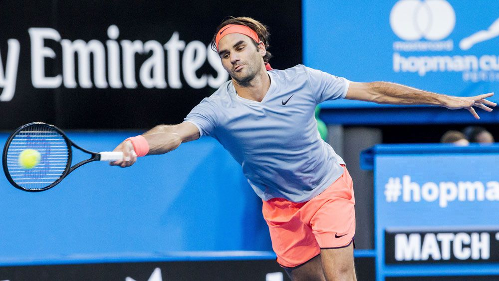 Roger Federer is happy with his preparations for the Australian Open despite losing to Alexander Zverev at the Hopman cup. (AAP)