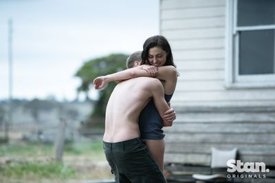 Sam Reid as Young Max and Phoebe Tonkin as Young Gwen