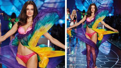 Model Jac Monika Jagaciak channelled a butterfly for her appearance on the catwalk. (Instagram)