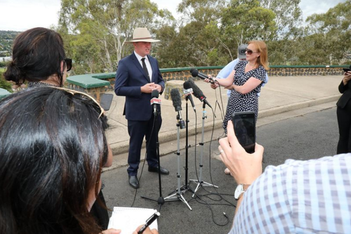 Barnaby Joyce announced his resignation in a press conference in Armidale this afternoon. (AAP)