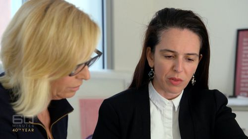 Liz Hayes with head of the Finance Sector Union, Julia Angrisano (60 Minutes)