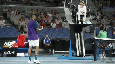 Kyrgios launches running battle with umpire