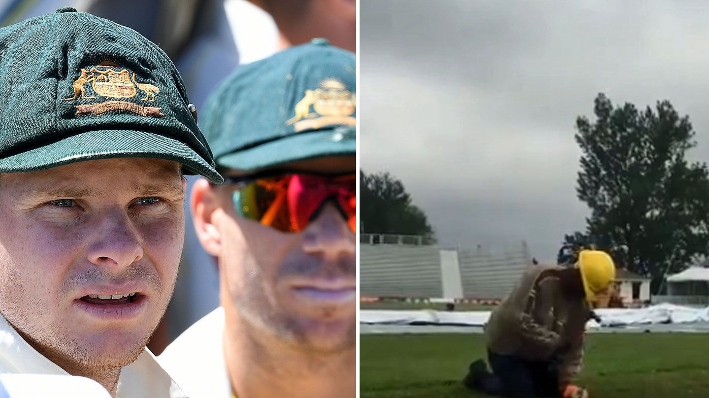 Former Australian captain Steve Smith and David Warner relaxed for cricket comebacks
