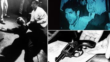 Palestinian-born assassin Sirhan Sirhan arrested after his shooting of United States Senator Robert F Kennedy.