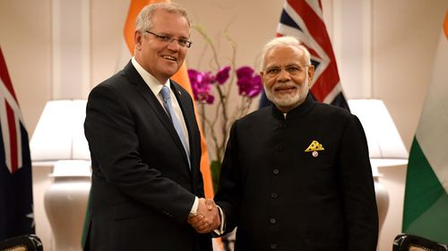 Mr Morrison also met with Indian Prime Minister Narendra Modi in a bleak discussion about a sugar dispute crippling Australian farmers.