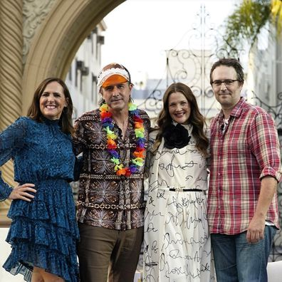 Molly Shannon, David Arquette Drew Barrymore and Michael Vartan reunite 22 years after starring in the movie Never Been Kissed.