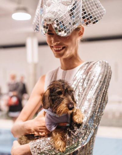 Backstage at the Thom Browne show, New York fashion week