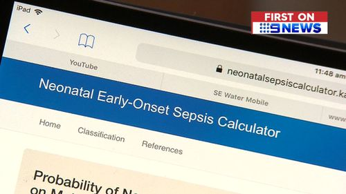 It's hoped the 'sepsis calculator' will help doctors diagnose newborns at risk of the infection.