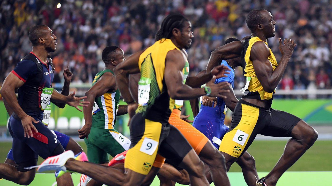 Bolt wins third-straight 100m final