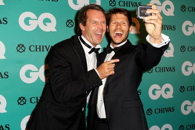 Jason gets selfies with <i>The Daily Edition</i>'s Tom Williams.