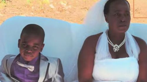 Boy, 9, renews vows with wife, 62