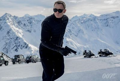 Sony released the first image from Spectre...let it snow!