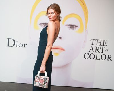 Maryna Linchuk at the launch of Dior - The Art of Colour.