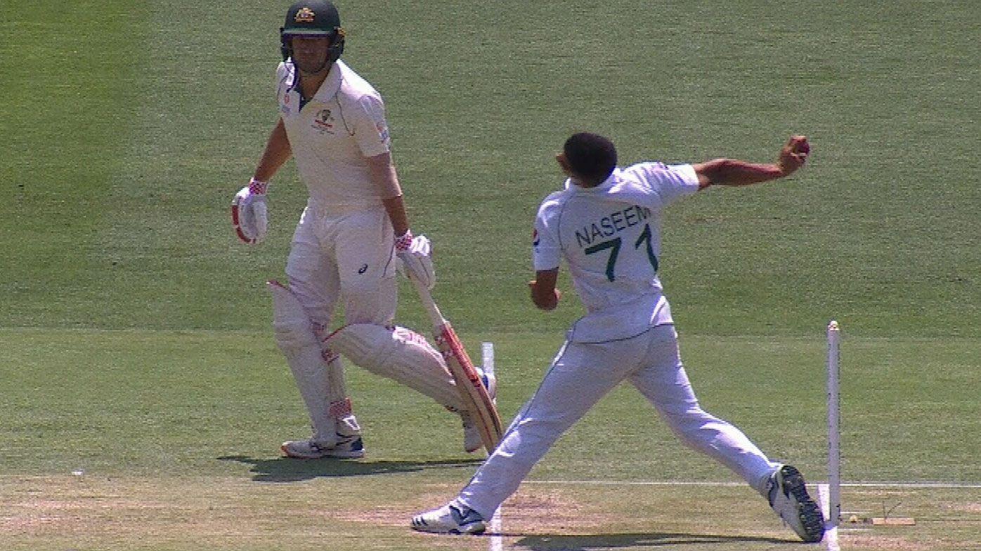 Pakistan's Naseem Shah cruelly denied first Test wicket