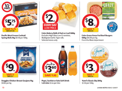 At Coles you'll find some great options for a beautiful spring barbeque.