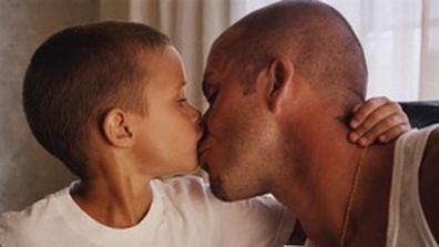 David Beckham and son Romeo.