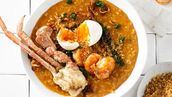 Mitch Orr's crab and prawn congee
