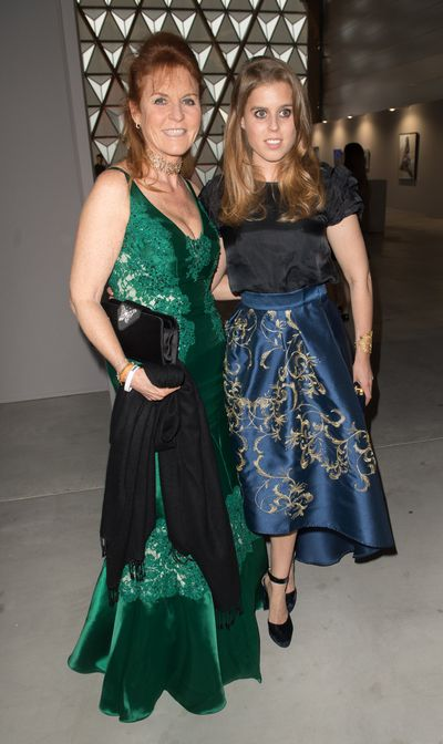 Sarah Ferguson, Duchess of York and Princess Beatrice at Fashion Relief, Cannes