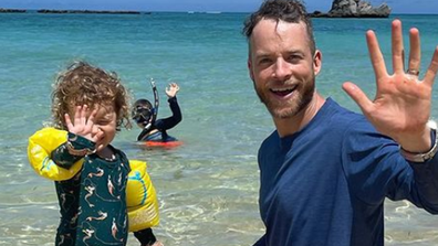 The couple recently took  their two children Rudy (left) and Sonny (centre) to Lord Howe Island in NSW.