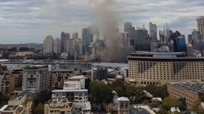 ninemsn reader Dato' Yap Ping Kon sent in this photo of the Barangaroo fire.