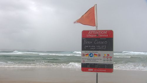 "Beaches have been closed along the south-east coast as the BoM warns of ""deceptively"" powerful surf. (9NEWS)"
