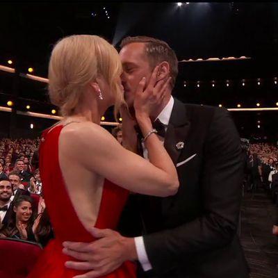 2017: Nicole Kidman and Alexander Skarsgård kiss
