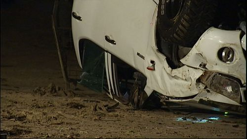 Another person, believed to have been a passenger in the car, was also injured. (9NEWS)
