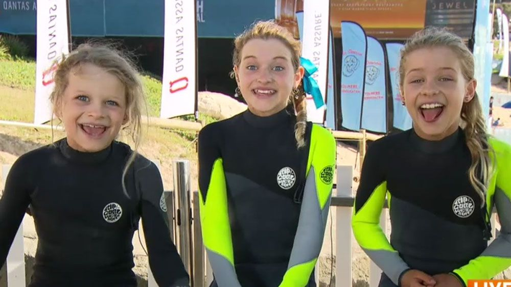 Surfing groms poke fun at dad - Again!