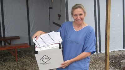 The Queensland nurse had spent a month working in the Red Cross Ebola Treatment Centre in Sierra Leone. (AAP)