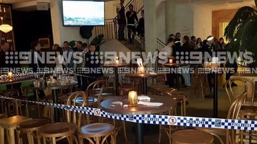Police are investigating after a man was stabbed in Bondi last night. Image: 9News