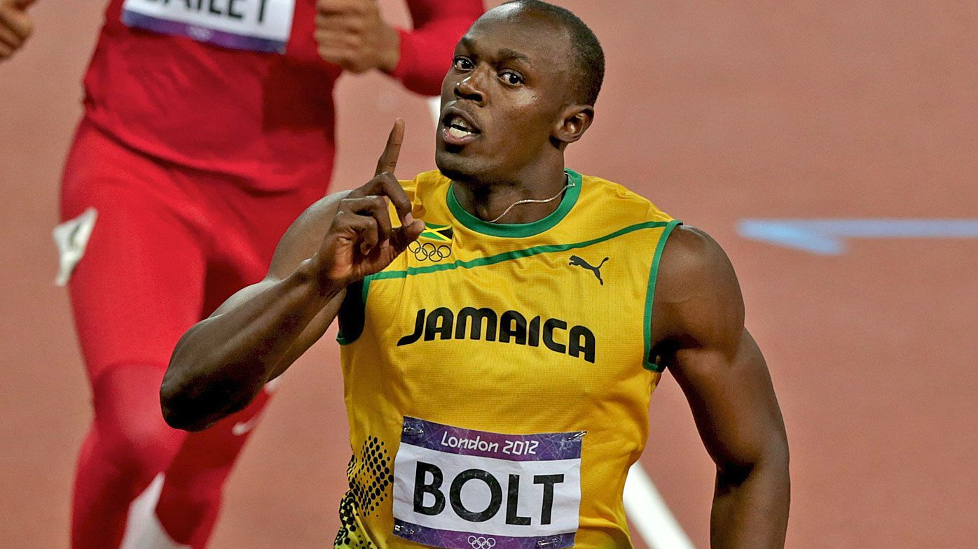2012 London Olympic Games Men's 100m final gold medal winner Usain Bolt