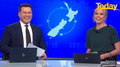 Today hosts Karl Stefanovic and Ally Langdon burst out laughing at the response.