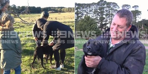 It was a happy ending for Macey. Pictures: 9NEWS