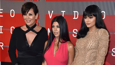 What's the collective known for a group of Kardashians? Kris, Kourtney and Kylie on the red carpet. (AAP)