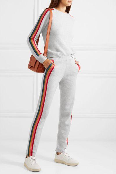 """<p><a href=""""https://www.net-a-porter.com/au/en/product/1069655/Allude/striped-merino-wool-blend-sweater"""" target=""""_blank"""" title=""""Allude Striped merino wool-blend sweater, $294.26"""">Allude Striped merino wool-blend sweater, $294.26</a></p> <p><a href=""""https://www.net-a-porter.com/au/en/product/1069651/Allude/striped-wool-blend-track-pants"""" target=""""_blank"""" title=""""Allude Striped wool-blend track pants, $427.14"""">Allude Striped wool-blend track pants, $427.14</a><br> <br> </p>"""