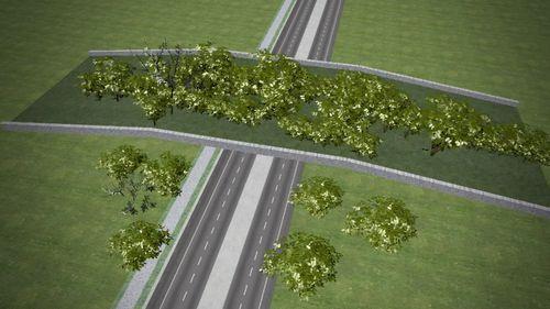 The proposed wildlife bridge.