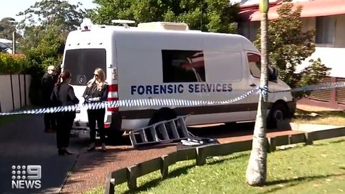 Police are examining the house in Newcastle.
