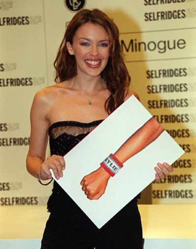 At Selfridges department store, London, at the launch of her <i>Kylie</i> picture book in 1999.