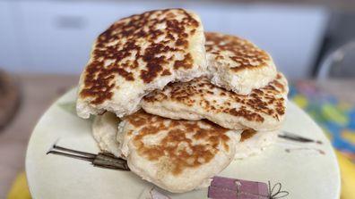 Two-ingredient flatbread is amazing