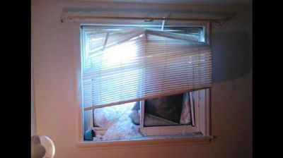 The snow is busting some Buffalo homes' windows. (TheWeatherChannel - Twitter).