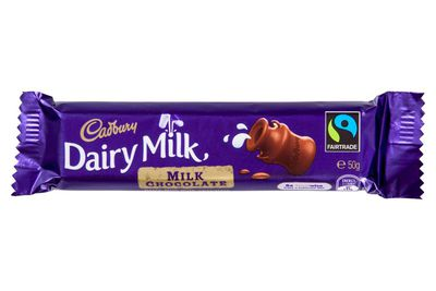 2/5 of a Cadbury Dairy Milk bar is 100 calories